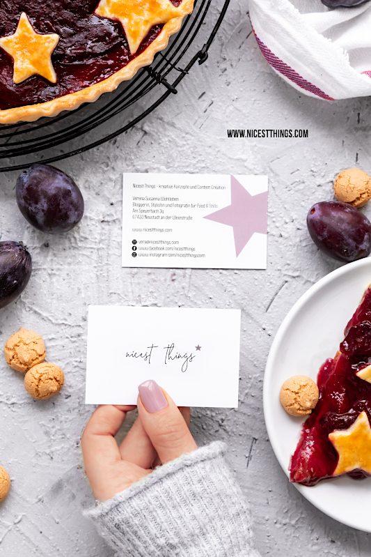 Visitenkarten selber erstellen Vistaprint Erfahrungen Foodblogger #visitenkarten #foodblogger #design #vistaprint