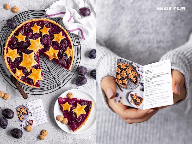 Visitenkarten selber erstellen mit Rezept Foodblogger Vistaprint Zwetschgentarte Zwetschgen Pie