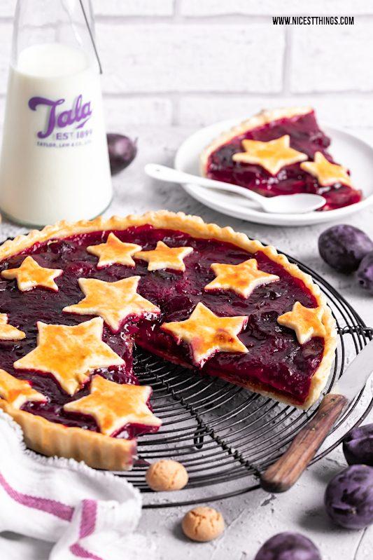 Zwetschgentarte Rezept mit Marzipan und Amarettini Zwetschgen Pie Plum Pie #zwetschgen #zwetschgentarte #tarte #plumpie #pie #herbstrezepte #zwetschgenkuchen #zwetschgenpie #marzipan #amarettini