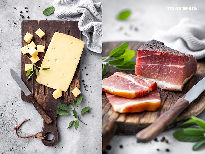 Stilfser Käse Speck aus Südtirol