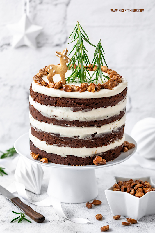 Wintertorte Rezept mit gebrannten Erdnüssen und Karamell Torte Rezept Weihnachten #wintertorte #torte #weihnachten #advent #erdnuss #erdnüsse #ültje #weihnachtsbäckerei #weihnachtstorte
