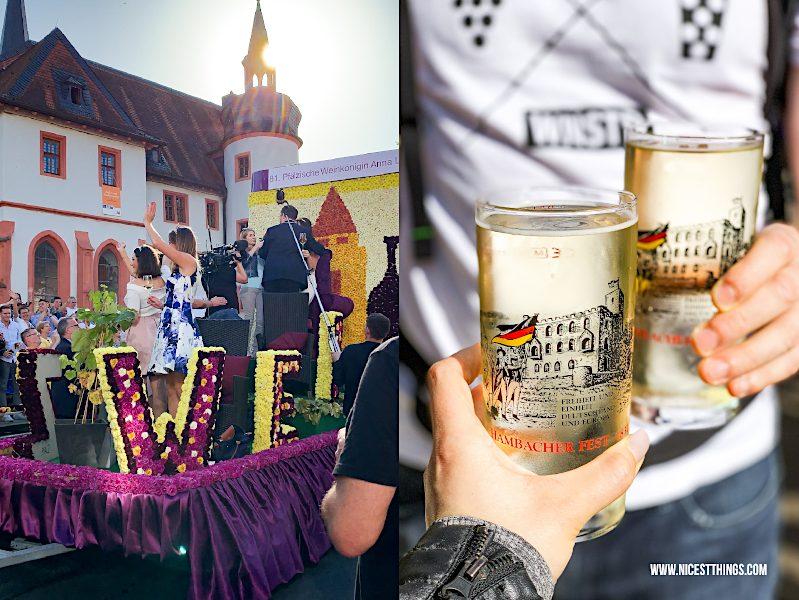 Winzerfestumzug Neustadt Pfälzische Weinkönigin Anna Löffler