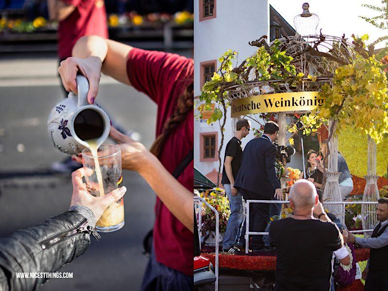 Winzerfestumzug Weinlesefest Neustadt Deutsche Weinkönigin Angelina Vogt