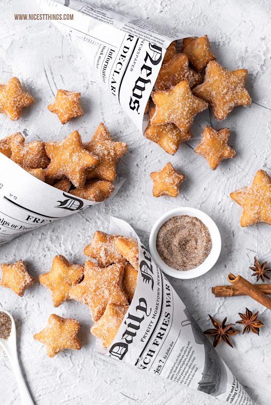 Chai Gewürz Rezept Chai Gewürzmischung mit Chai Sternen Krapfen Backrezept #chai #krapfen #chaigewürz #sterne #weihnachtsbäckerei #geschenkeausderküche #backrezepte #donuts