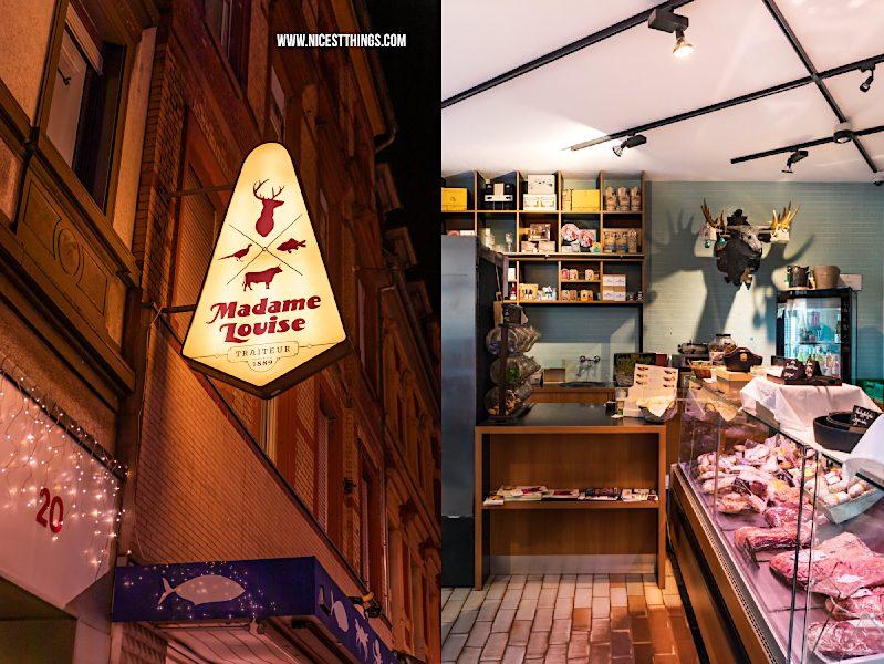 Heidelberg Shopping Tipps: Madame Louise Heidelberg Feinkost Traiteur Fisch Fleisch Brot Spirituosen