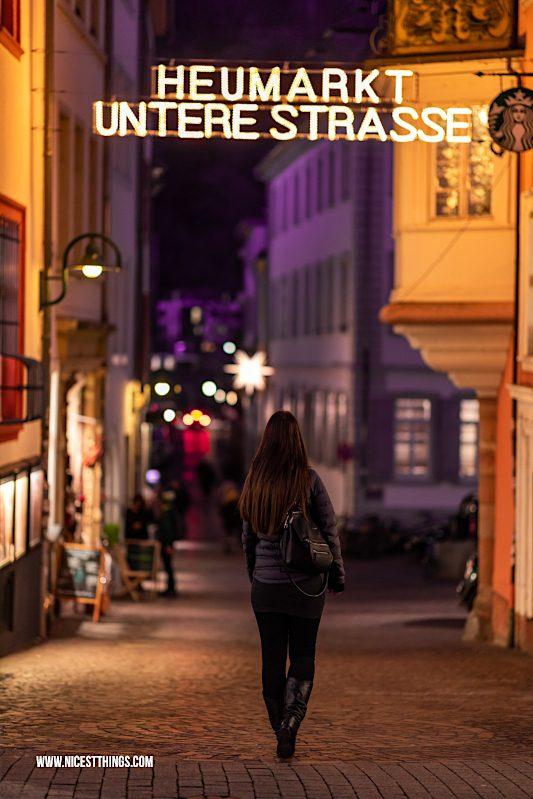 Heidelberg Heumarkt Untere Straße zu Weihnachten
