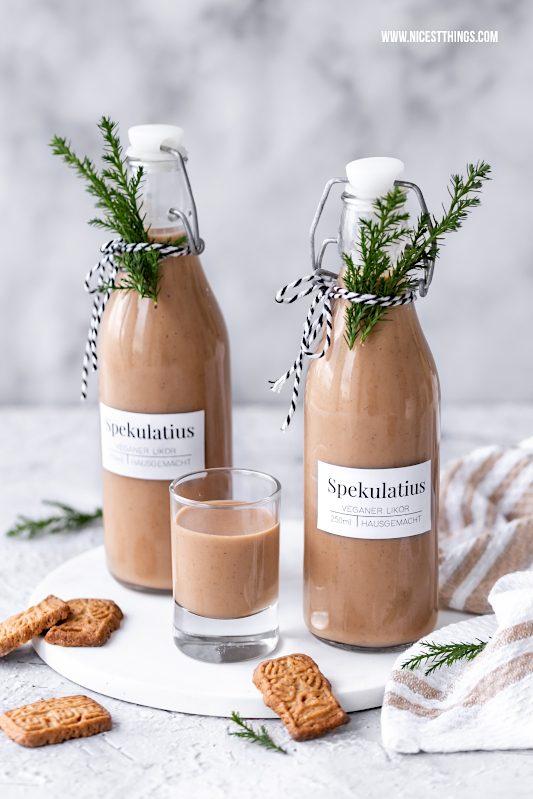 Spekulatius Likör vegan Rezept Geschenkidee Weihnachten #spekulatius #likör #spekulatiuslikör #vegan #weihnachten #geschenkideen #geschenkeausderküche