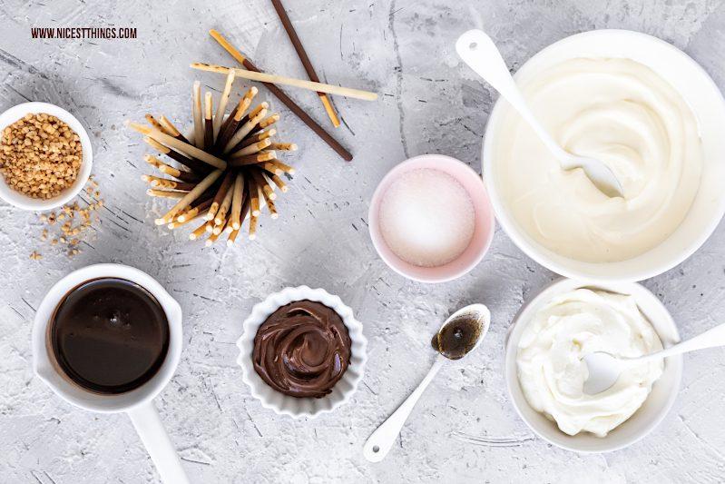 Zutaten für Mikado Dessert