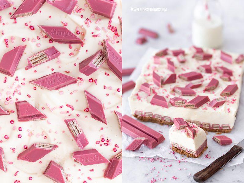 KitKat Cheesecake Rezept mit KitKat Ruby Chocolate