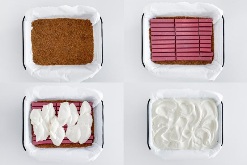 KitKat Ruby Cheesecake Rezept