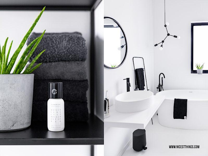 Badezimmer schwarz weiss