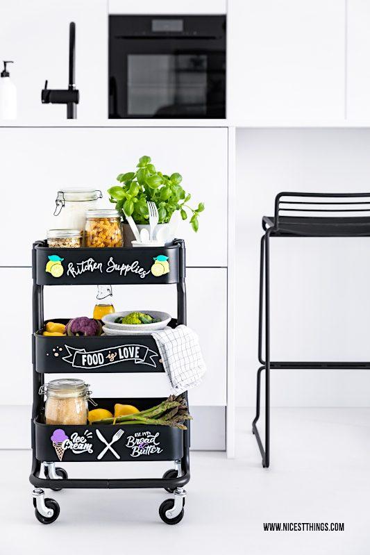 IKEA Hack RASHULT Servierwagen DIY Küchenwagen Rollwagen mit Lettering mit PILOT PINTOR Stiften gestalten #ikea #hack #ikeahack #pilot #pintor #pilotpintor #servierwagen #rollwagen #kuechenwagen #rashult #diy #lettering #barwagen