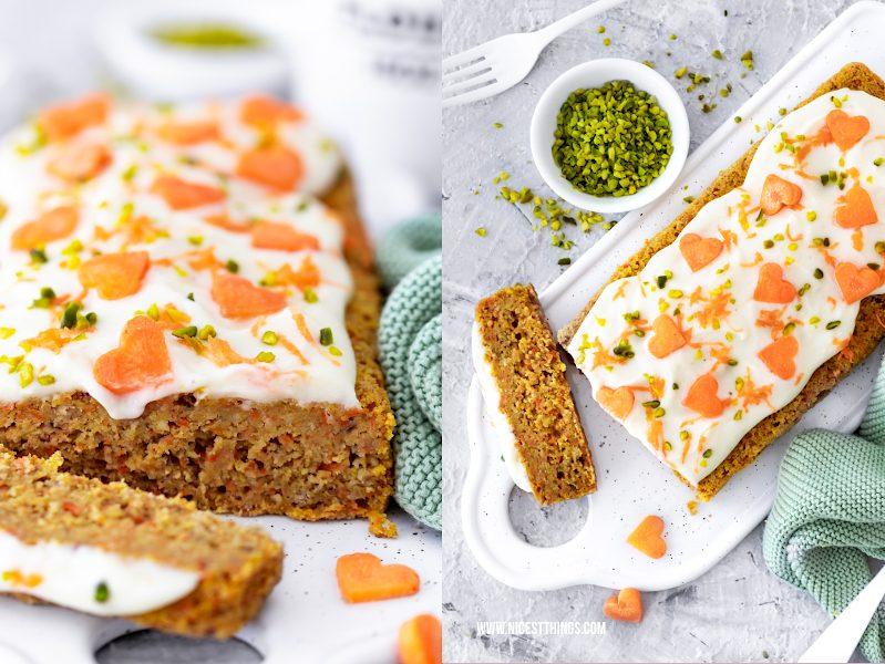 Kalorienarmer Karottenkuchen ohne Mehl, gesund, Clean Eating, Rüblikuchen Rezept