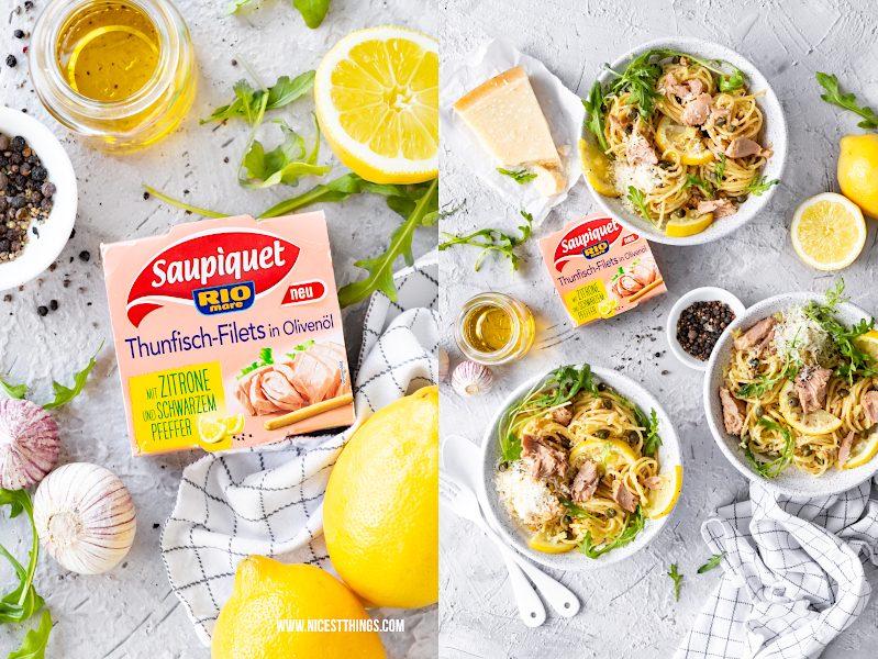 Saupiquet Thunfisch-Filets in Olivenöl mit Zitrone und schwarzem Pfeffer