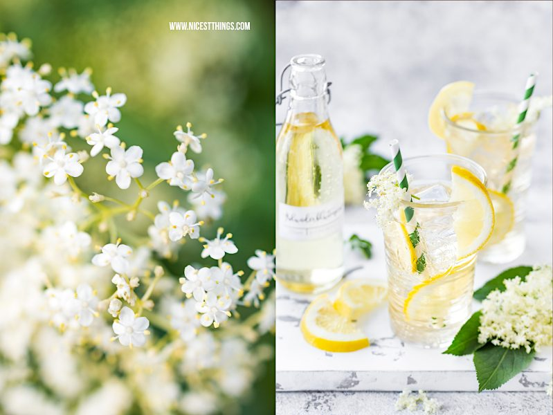 Holunderblütensirup ohne Zucker zuckerfrei kalorienarm kalorienfrei mit Erythrit Rezept