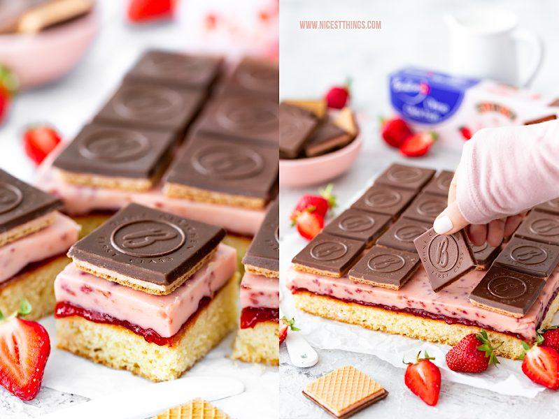 Schneewittchen Kuchen Schneewittchen Schnitten Schneewittchenkuchen Rezept Erdbeeren Bahlsen Ohne Gleichen Baileys Strawberries & Cream