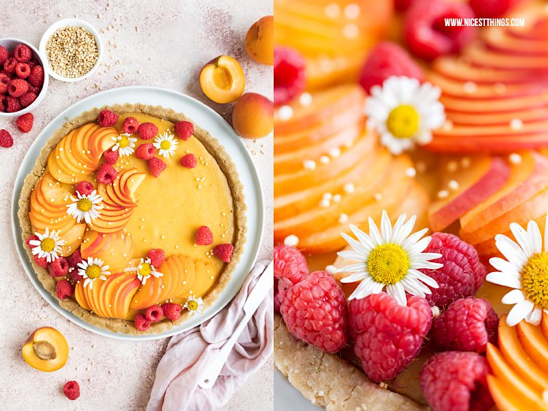 Aprikosentarte Aprikosen Tarte Rezept vegan kalorienarm glutenfrei Aprikosentarte
