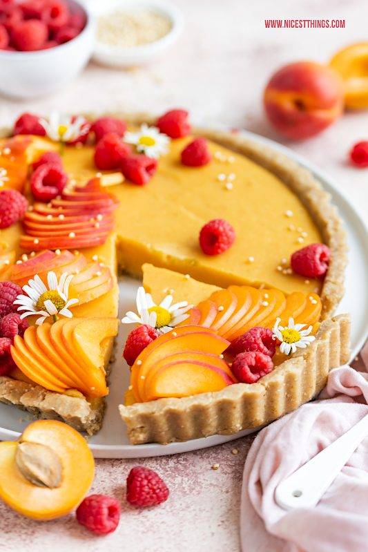 Aprikosen Tarte Aprikosentarte Rezept vegan kalorienarm glutenfrei #aprikosen #tarte #aprikosentarte #vegan #glutenfrei #kalorienarm #abnehmen