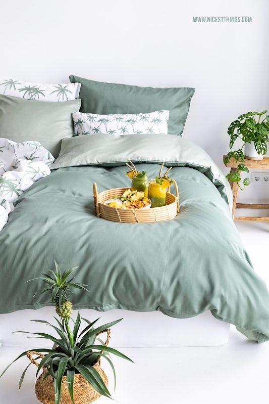 Schlafzimmer Jungle Tropical Tchibo Bettwäsche Palmen grün #tchibo #time4tchibo #nachhaltigerLeben #gemeinsamrichtigwasbewegen #probierdichaus #schlafzimmer #jungle #bettwäsche