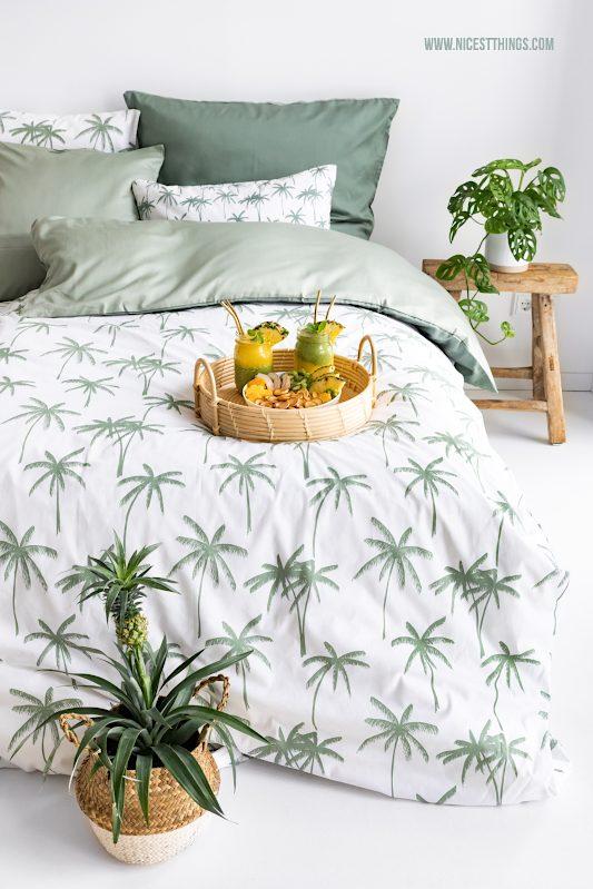 Palmen Bettwäsche Jungle Schlafzimmer #time4tchibo #nachhaltigerLeben #gemeinsamrichtigwasbewegen #probierdichaus