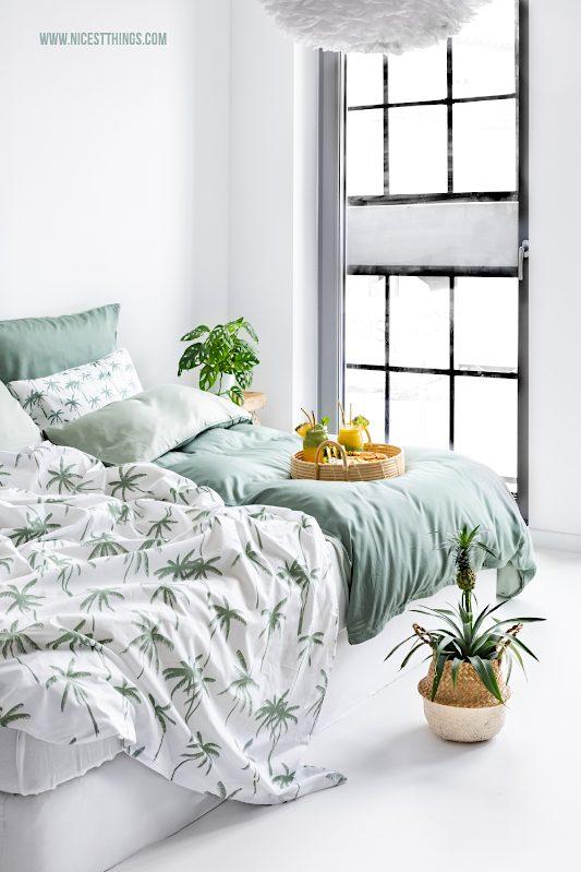 Palmen Bettwäsche Jungle Schlafzimmer grün #time4tchibo #nachhaltigerLeben #gemeinsamrichtigwasbewegen #probierdichaus