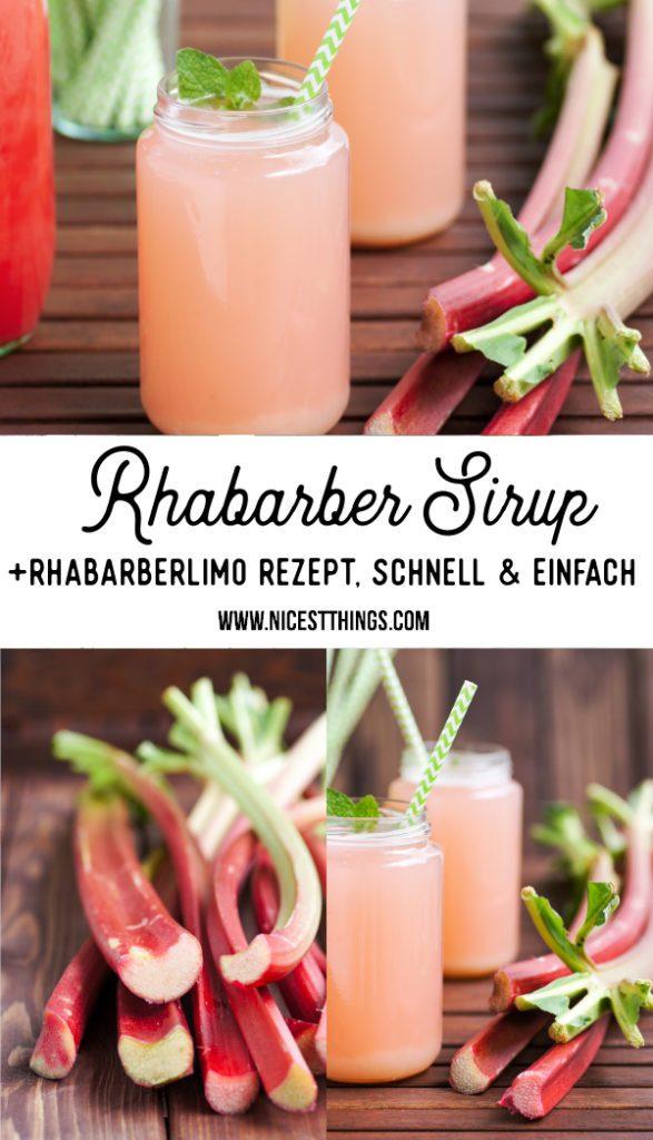 Rhabarbersirup Rezept Rhabarber Sirup Rhabarber Limonade selber machen Rhabarberlimo #rhabarber #sirup #rhabarbersirup #limonade #rhabarberlimonade #rhabarberrezepte