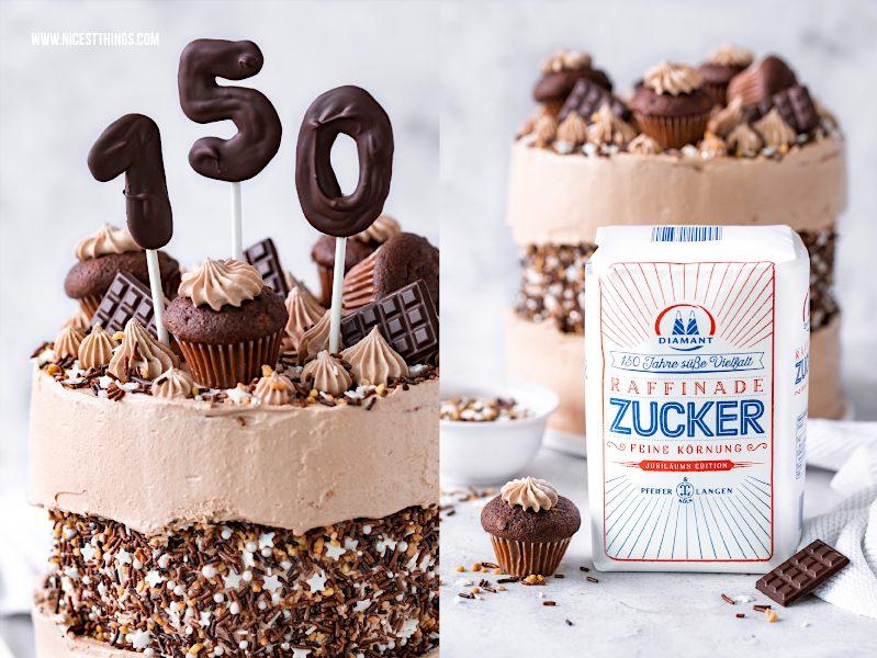 Sprinkle Fault Line Cake Rezept mit Schokolade und Diamant Zucker #faultlinecake #cake #torte #sprinkles #trendtorten #geburtstagstorte #diamant #daiamantzucker #echtzucker #happybirthdaydiamant #150JahresüßeVielfalt
