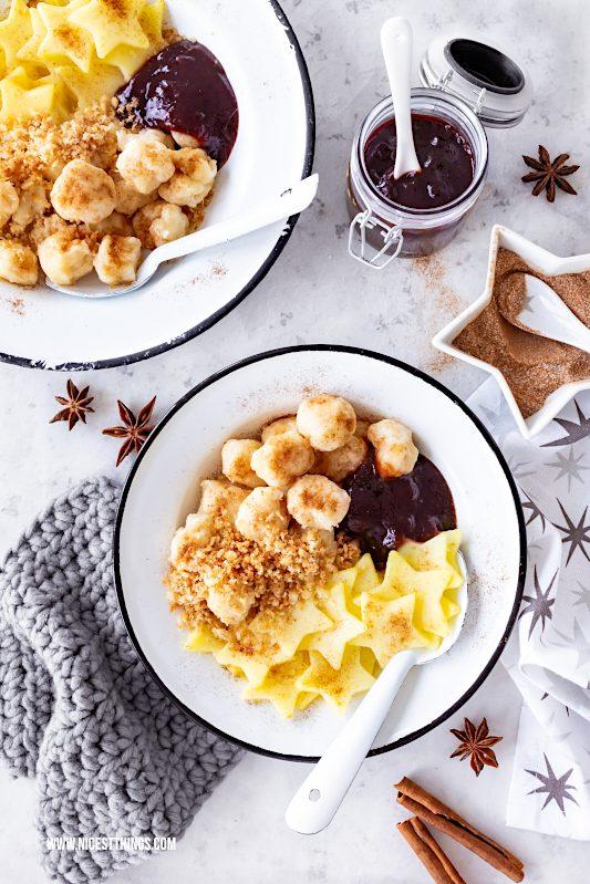 Verheiratete Verheierte Pfalz Pfälzer Gericht Saarland Kartoffeln süß Latwerge Weihnachten EDEKA regional #verheiratete #verheierte #pfalz #pfälzerrezepte #kartoffeln #melspeise #pflaumenmus #edeka #wirundjetztfürunsereregion #regionalerezepte