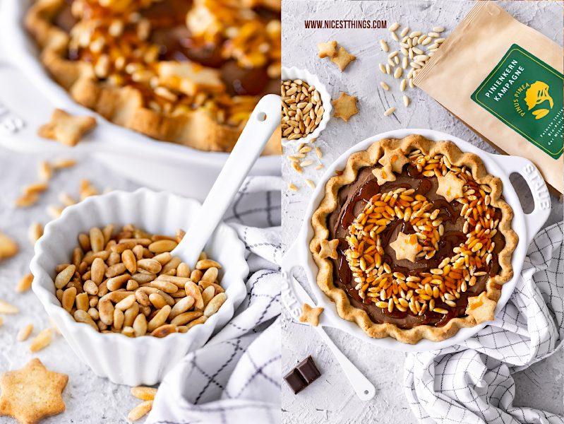 Maronen Pie mit Pinienkernen und Karamell Rezept Pinienkern Kampagne italienische Bio Pinienkerne