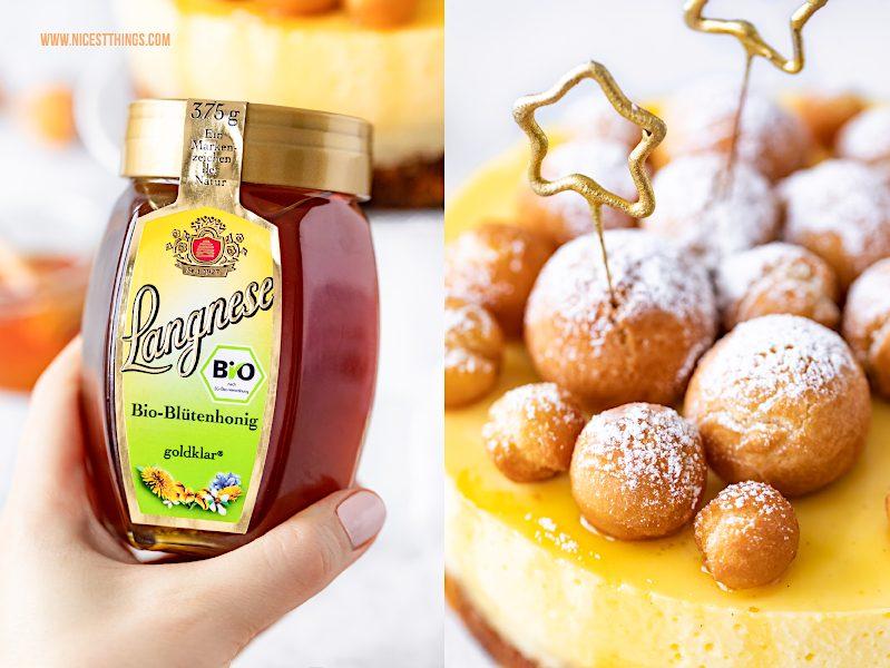 Langnese Bio-Blütenhonig goldklar Rezept Krapfen Torte