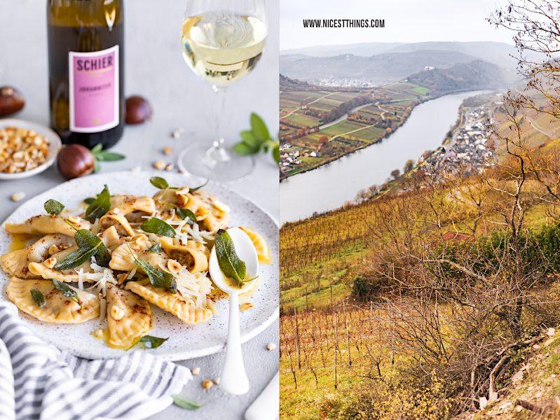 Maronen Ravioli Rezept Salbei Haselnuss braune Butter vomFASS Schier Johanniter #maronen #ravioli #pasta #nudeln #salbei #vomfass #johanniter #schier