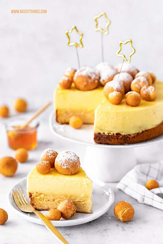 Silvestertorte Rezept Silvester Torte Nachtisch Dessert Honig Vanille Biskuit Krapfen Langnese Honig #silvester #torte #silvestertorte #krapfen #rezept #langnesehonig #langnese #honig #dessert #nachtisch