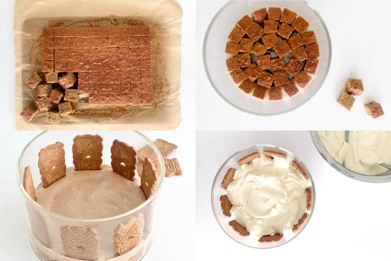 Spekulatius Trifle Rezept mit Spekulatius Kuchen