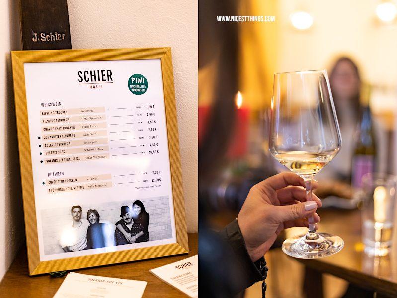 Weingut Schier Mosel Weine Preisliste