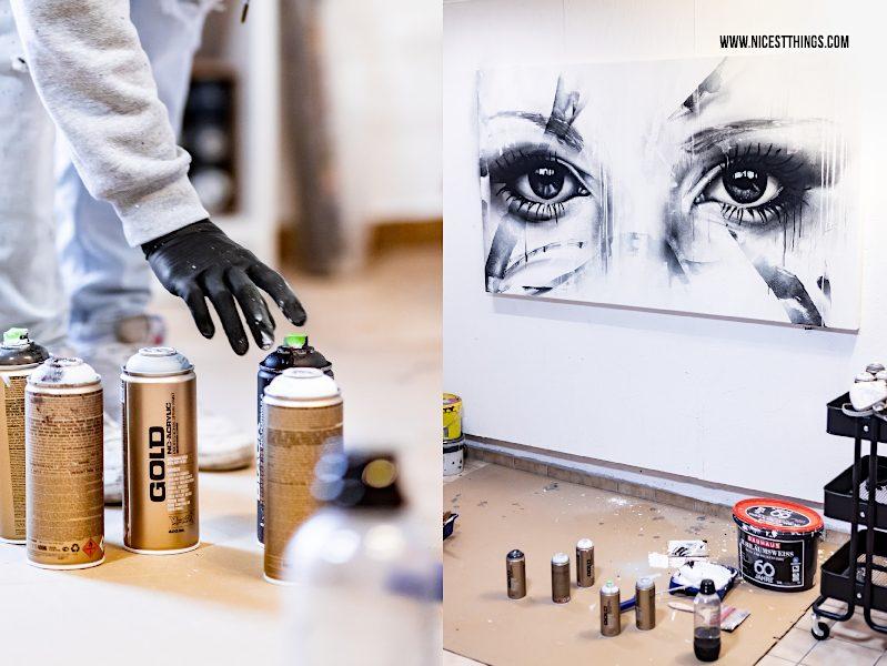 Street Art Bild von PRSNR (Aaron Diesbach) Street Artist aus Heidelberg Kunstwerk #prsnr #aarondiesbach #prsnrart #montanacans #spraypaint #graffiti #eyes #augen #urbanart #photorealism #mural