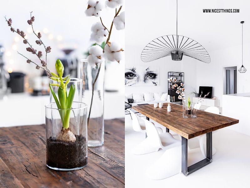 Weißes Loft weißer Boden Esstisch Altholz Vertigo Petite Friture