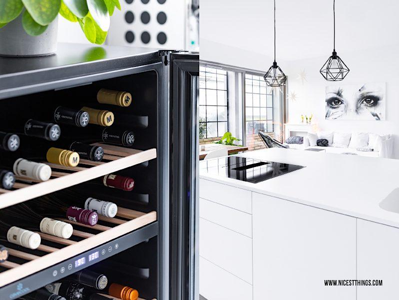 Weinkühlschrank Bürklin Wolf Bassermann Jordan von Buhl Odinstal Metzger Küche weiß Kücheninsel