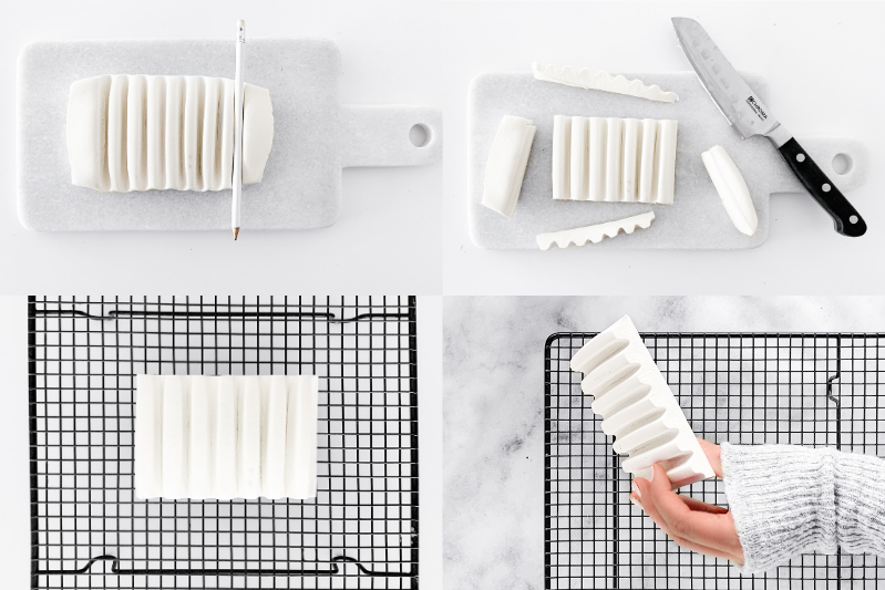 DIY Seifenschale selber machen aus Modelliermasse Klar Seifen Geschenkidee #seifenschale #diy #modelliermasse #geschenkidee #klarseifen #seife