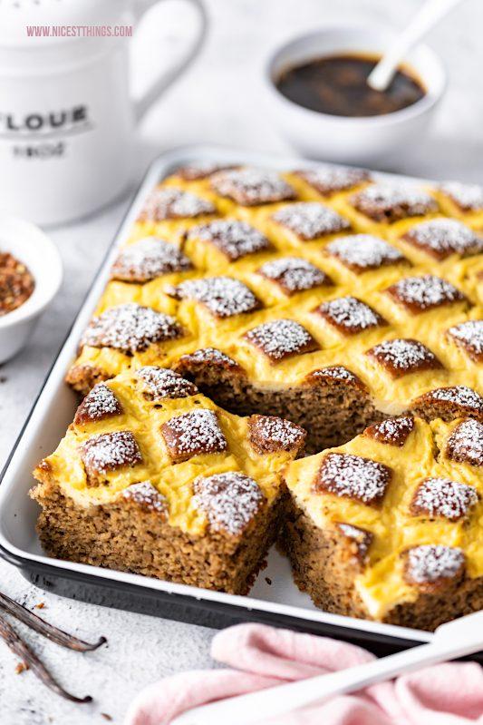 Steppdeckenkuchen vegan Blechkuchen Rezept ohne Ei gesund mit Grafschafter Goldsaft #steppdeckenkuchen #vegan #blechkuchen #kuchen #rezept #veganekuchen #grafschaftergoldsaft #grafschafter #wirklebenzusammen #soehnle #pageprofi300 #grafschaftergoldsaftxsoehnle