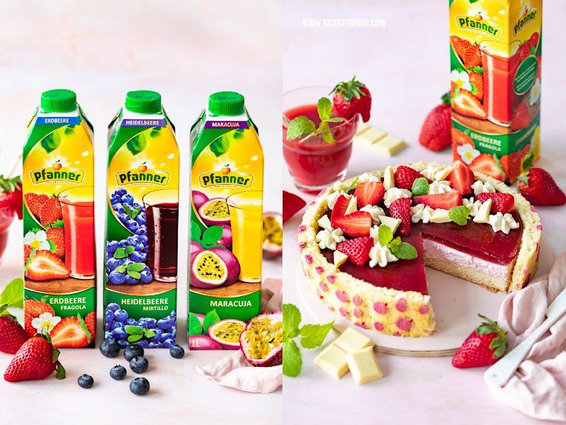 Pfanner Fruchtsaft Erdbeere Heidelbeere Maracuja