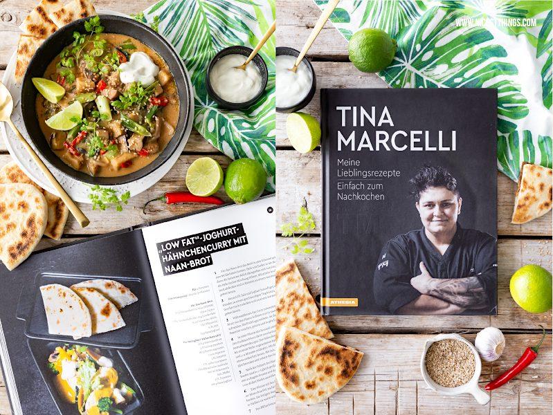 Veganes Curry Rezept Tina Marcelli Auberginen Curry mit Naan Brot #vegan #curry #veganescurry #veganerezepte #auberginencurry #auberginen #naan #naanbrot #indisch