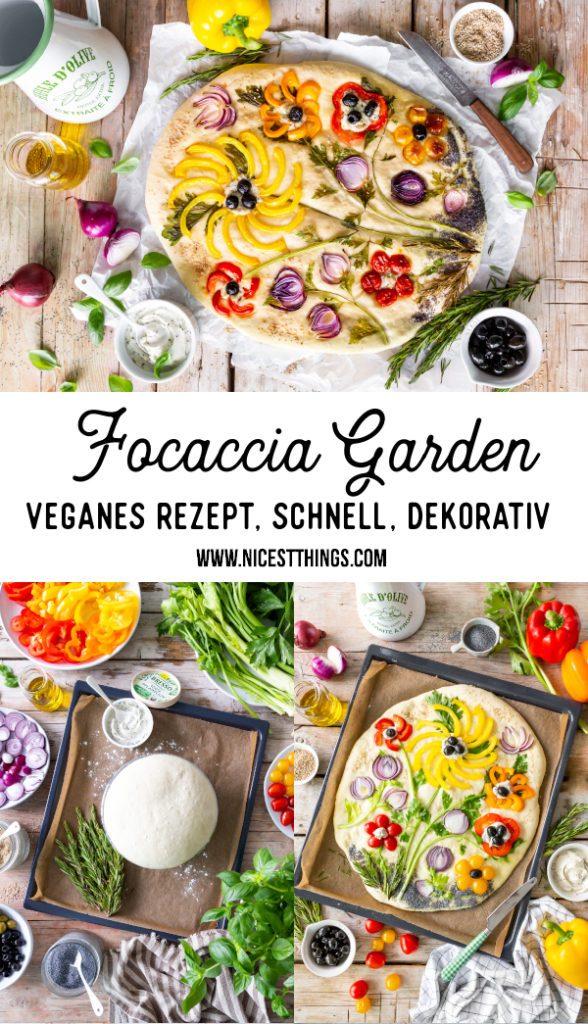 Focaccia Garden Focaccia Rezept vegan mit BRESSO 100% PFLANZLICH #focaccia #garden #focacciagarden #gardenfocaccia #bresso#bressopflanzlich #ichliebekaese #veganfood #vegan #veganerezepte