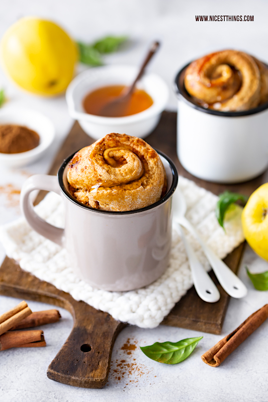 Mug Cake Rezept Zimt Quitte Tassenkuchen Maintal Quittengelee Annes Feinste #mugccacke #tassenkuchen #zimt #quitten #maintal #herbstrezepte