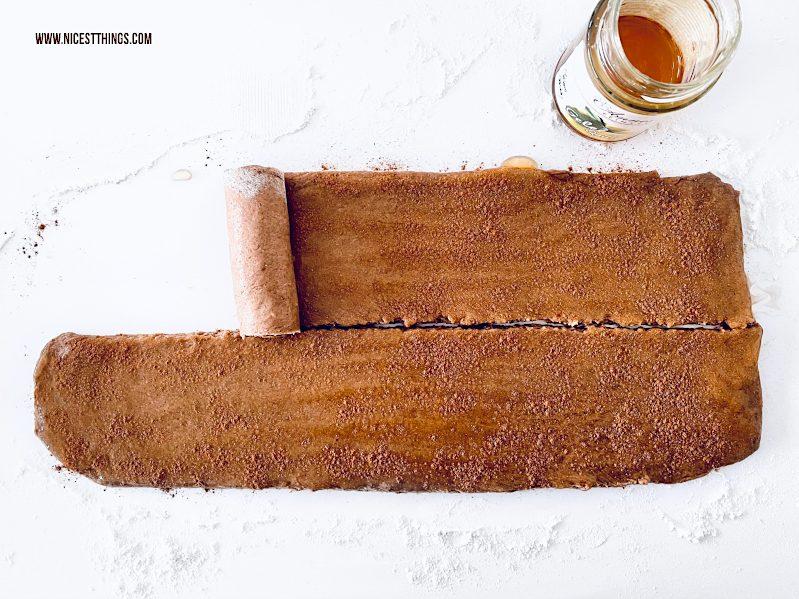 Mug Cake Tassenkuchen. Spirale Schnecke